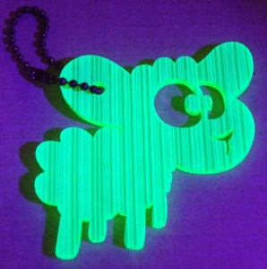 Geo-Token 'JaB' im UV-Licht